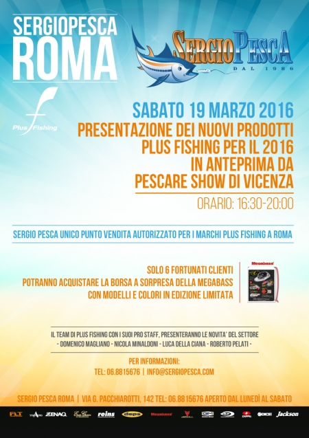 Event Plus Fishing a Roma da Sergio Pesca