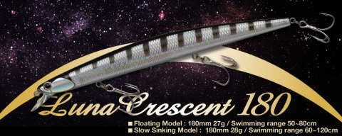 Luna Crescent 180 - new longjerk 180mm by Golden Mean & Plus Fishing