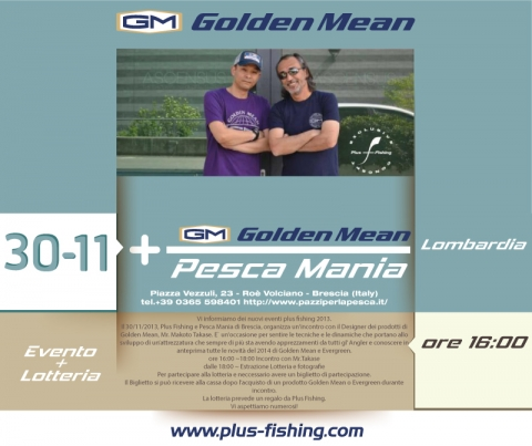 Plus Fishing Event 2013  | Golden Mean a Pesca Mania (BS) il 30/11/2013