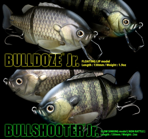Bulldoze Jr. & Bullshooter Jr. Slow Sinking - Real Blue Gill & Kinbuna