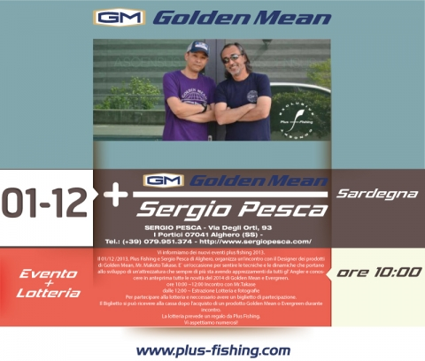 Plus Fishing Event 2013 | Golden Mean a Sergio Pesca (SS) - Alghero il 01/12/2013